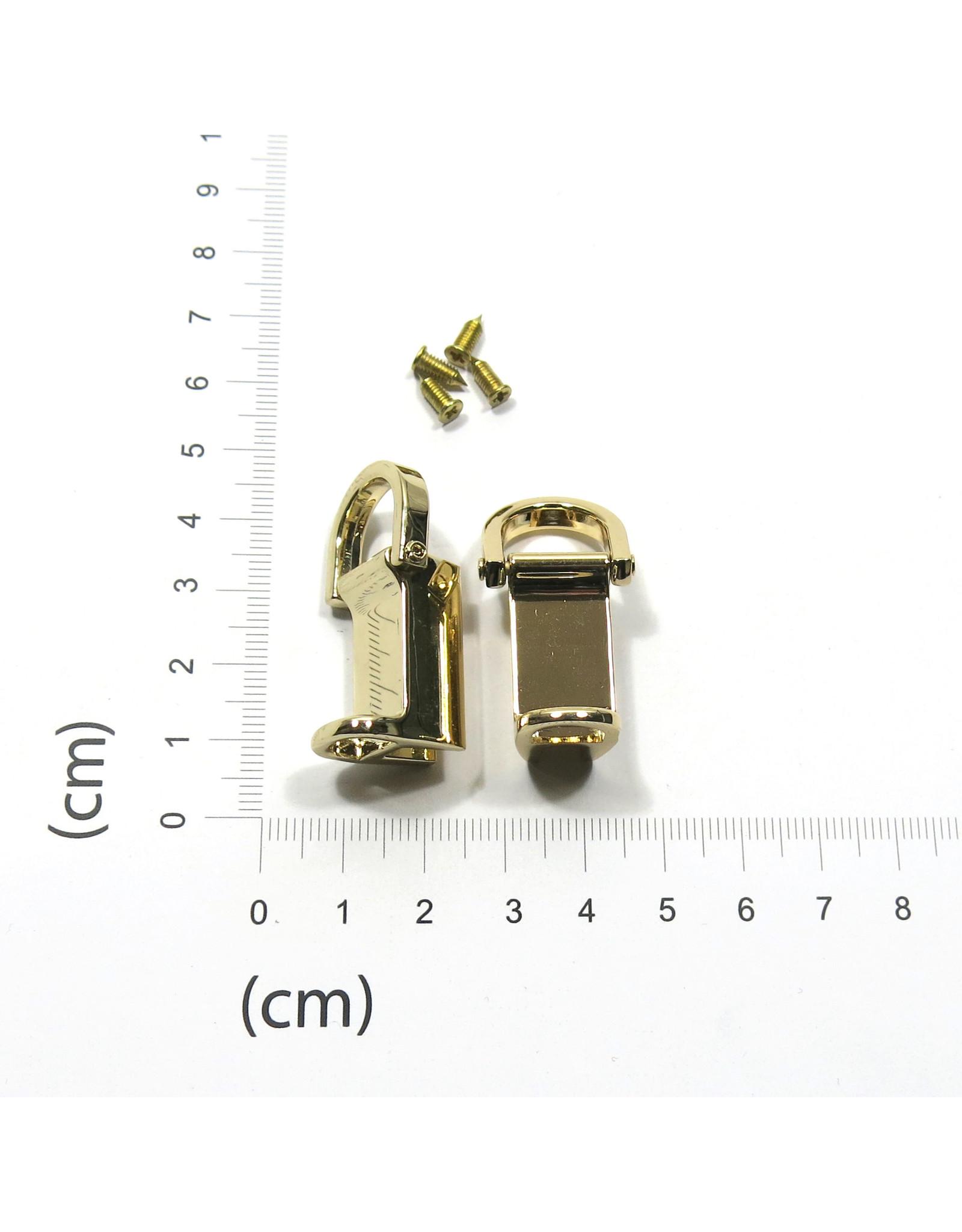 Set 2 gusset hooks strap connector
