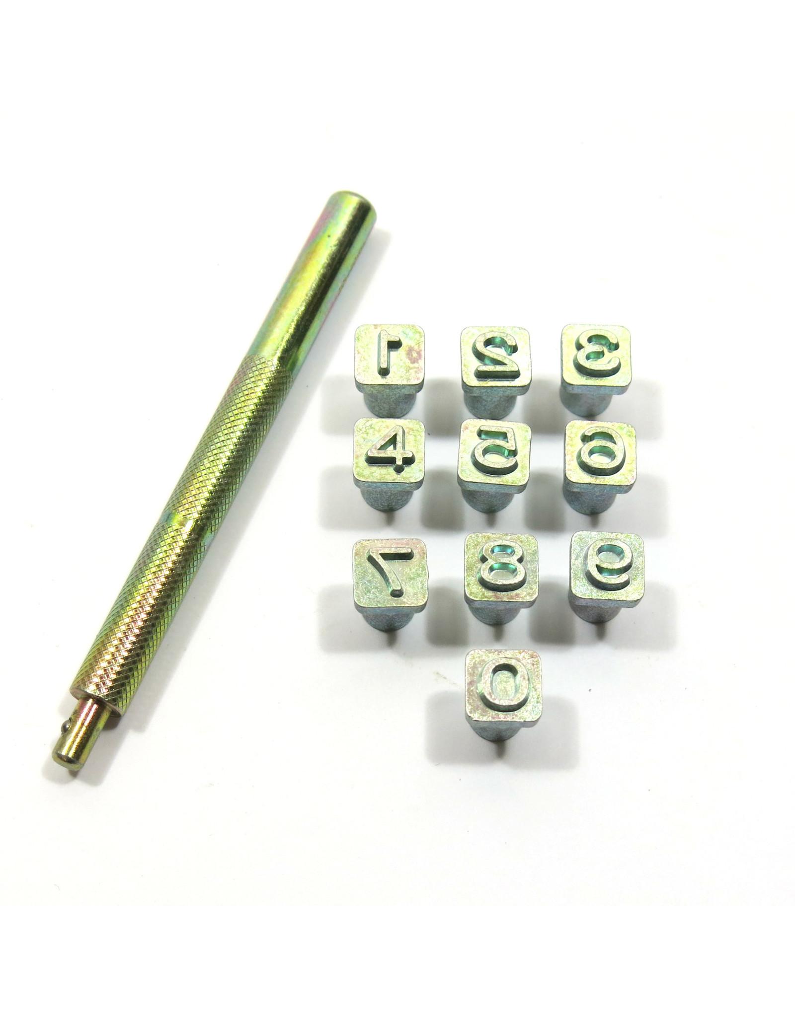 Number stamp set