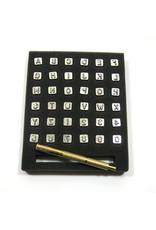 Letter & number stamp set