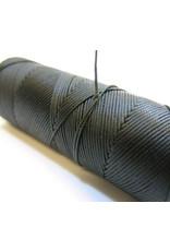 Waxed hand sewing thread dark green