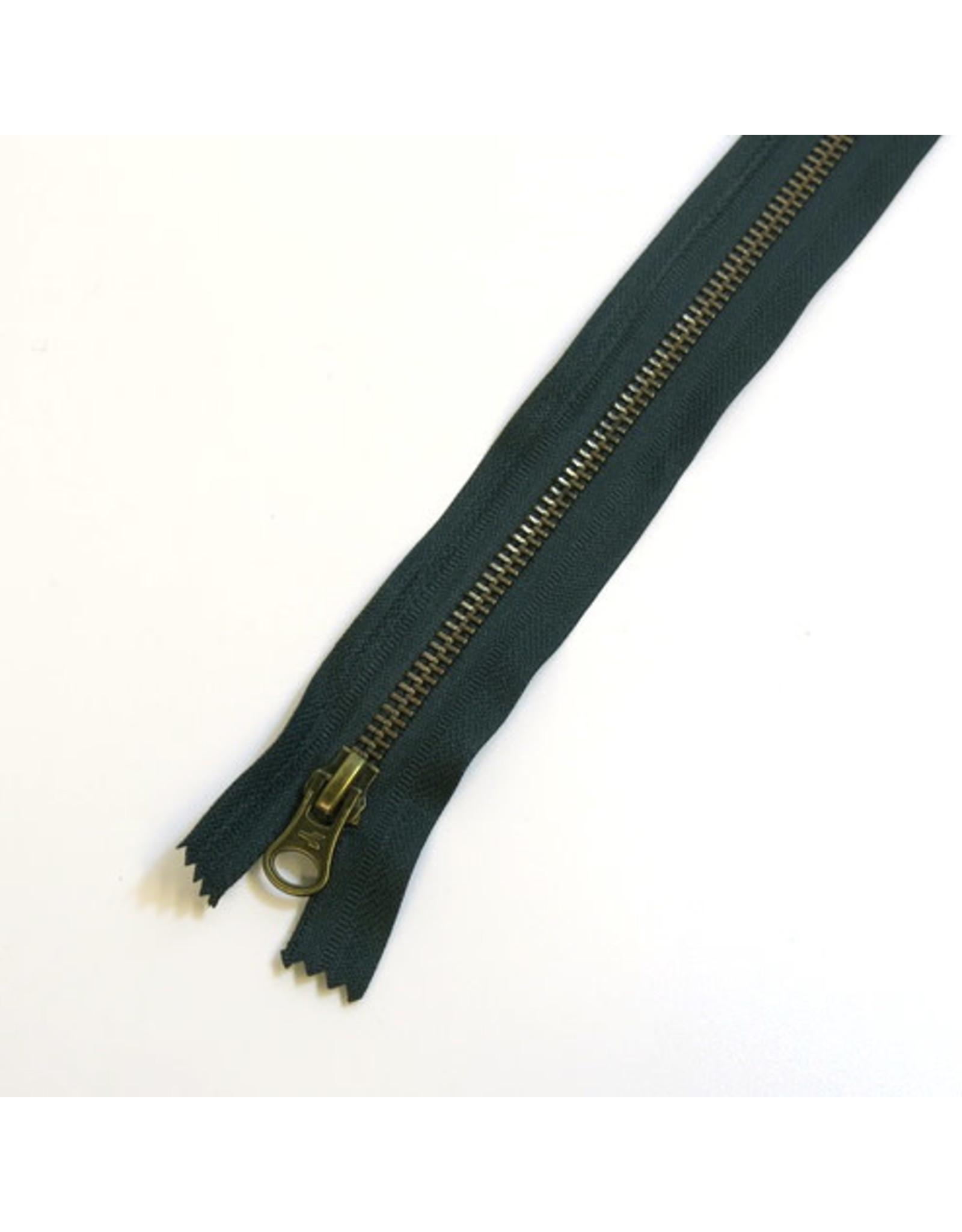 Metal zipper CYPRESS GREEN