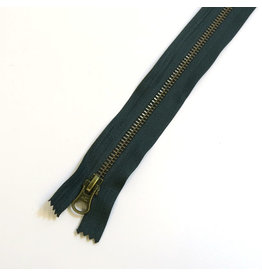 Metal zipper CYPRESS GREEN