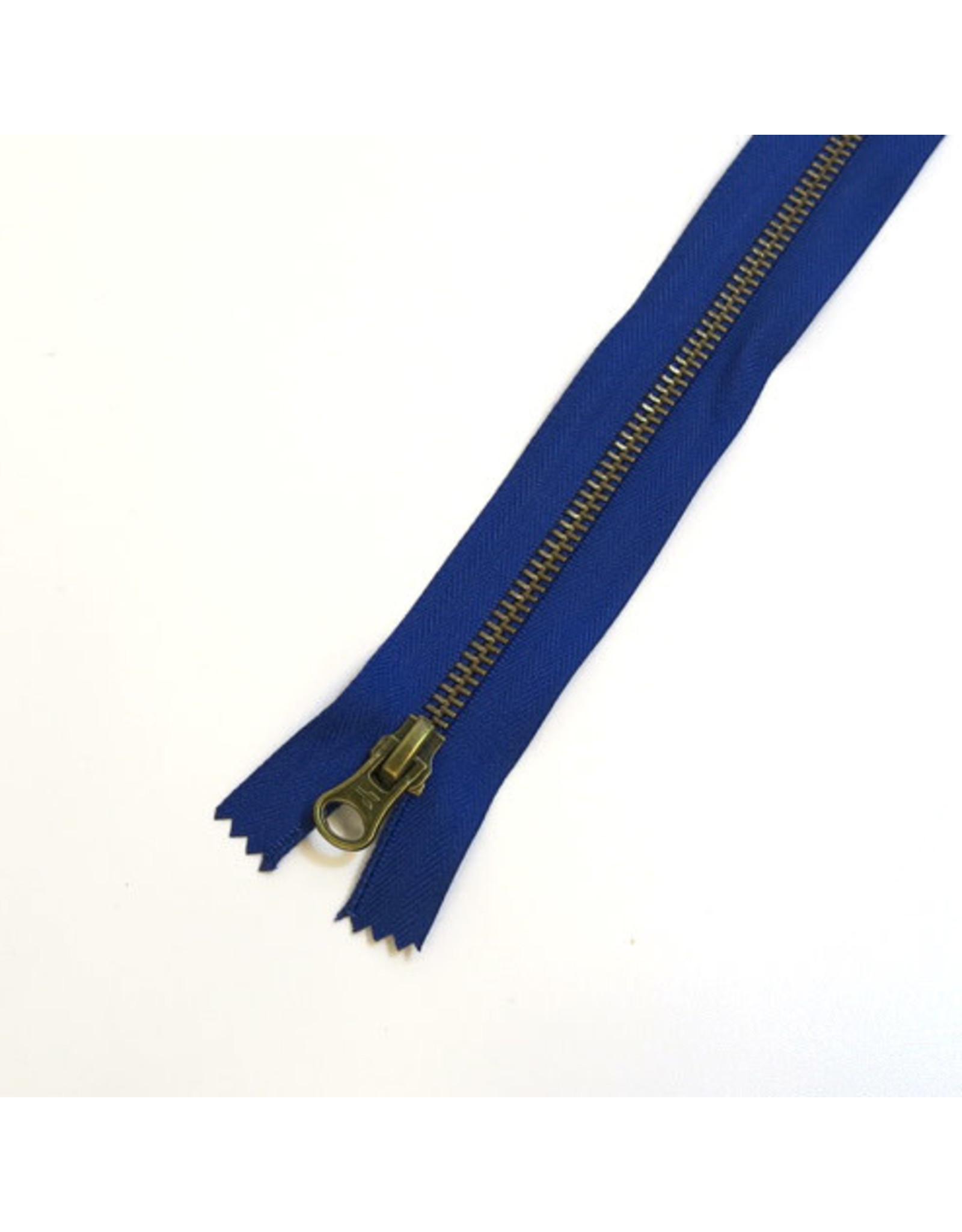 Metal zipper INDIGO BLUE