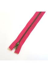 Metal zipper FUCHSIA