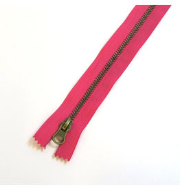 Metal zipper FUCHSIA