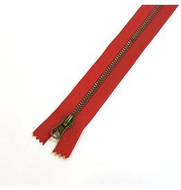 Metal zipper RED