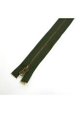 Metal zipper CAMOUFLAGEGREEN