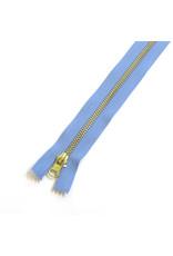 Metal zipper AZURE BLUE