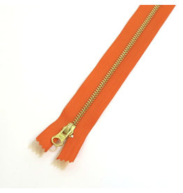 Metal zipper ORANGE