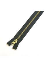 Metal zipper TORNADO GREY