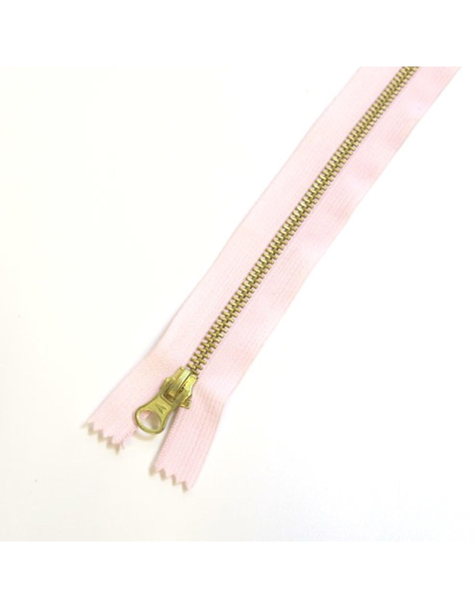 Metal zipper BABY PINK