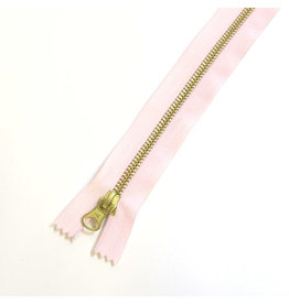Metal zipper BABY PINK
