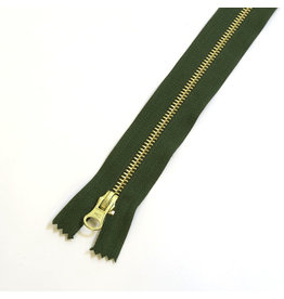 Metal zipper CAMOUFLAGEGREEN