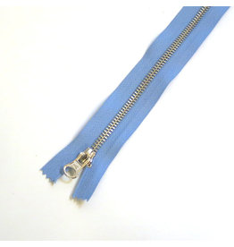 Metal zipper AZURE BLUE
