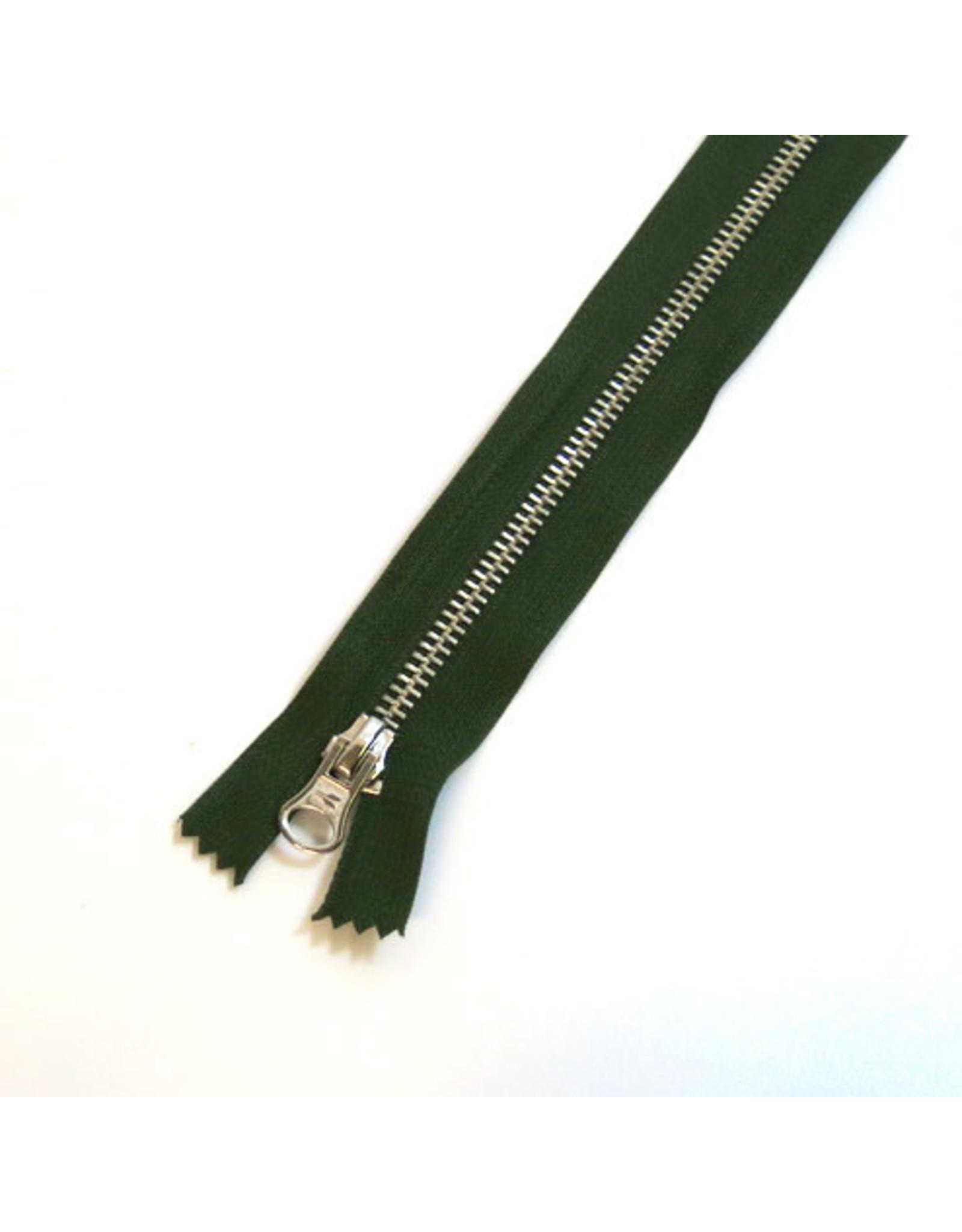 Metal zipper ALGAE GREEN