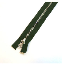 Metal zipper ALGAE GREEN
