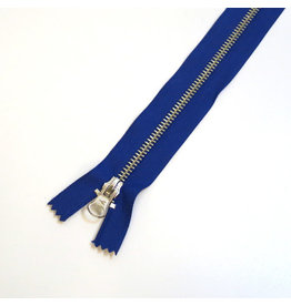 Metal zipper INDIGO BLUE