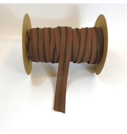 Zipper antique brass FORT BROWN
