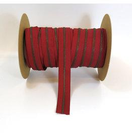 Zipper antique brass DEEP RED