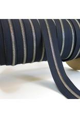 Zipper nickel MARINE BLUE