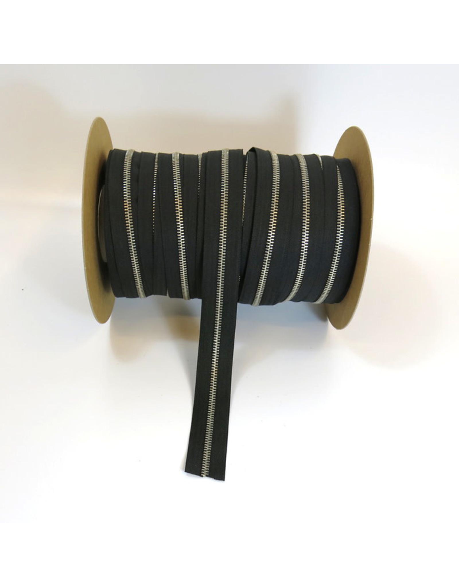 Zipper nickel BLACK