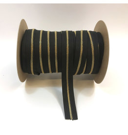 Zipper gold BLACK
