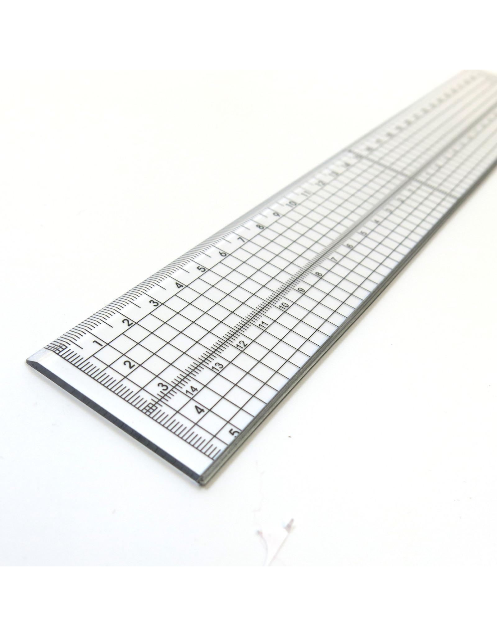 Transparent grid ruler 30cm