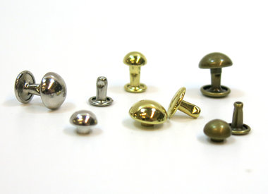 Domed rivets