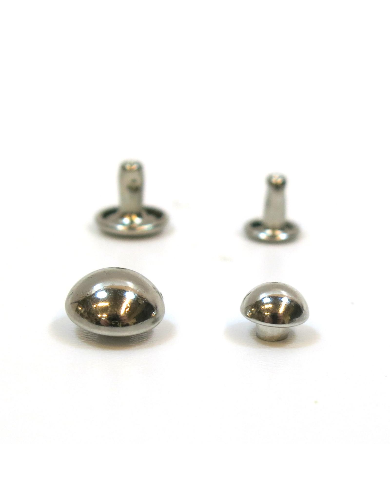Domed rivets (nickel)