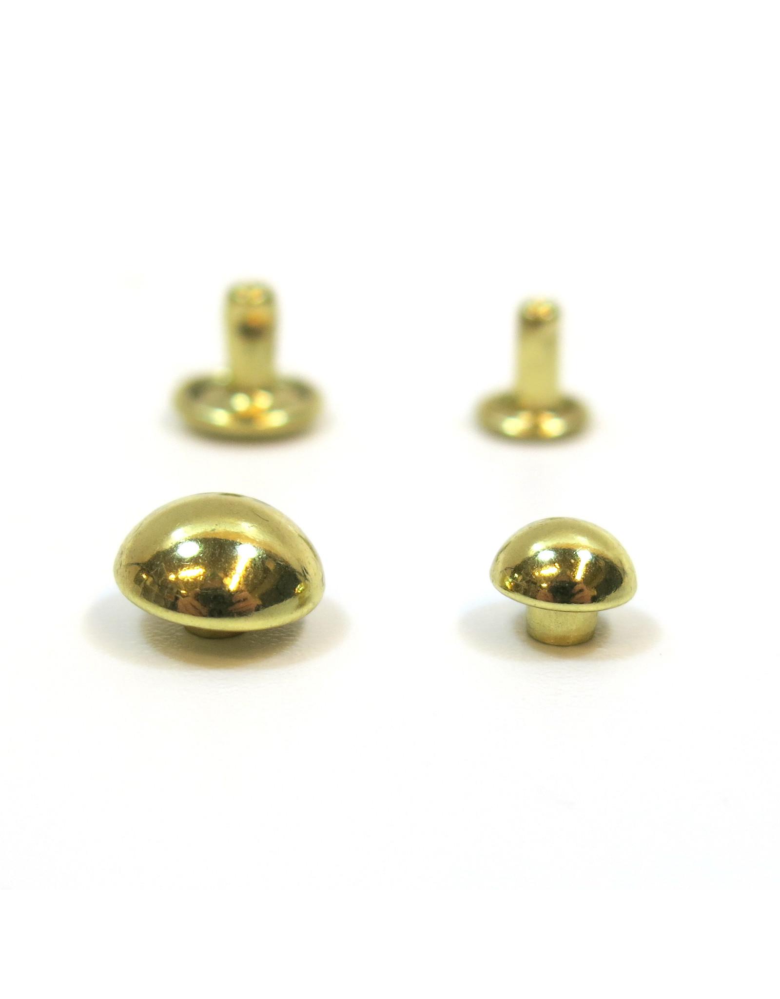 Domed rivets (gold)