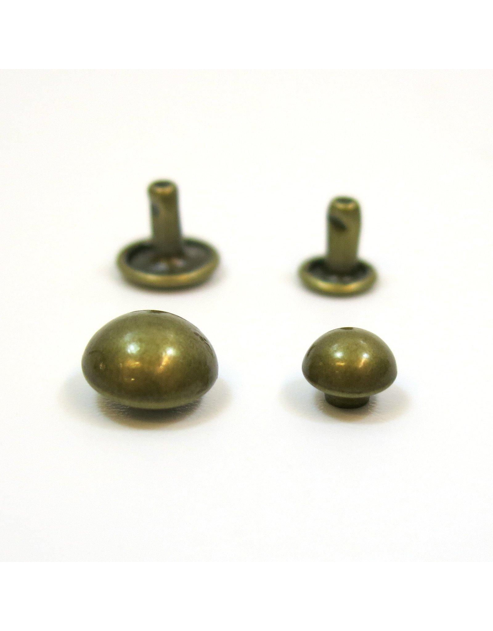 Domed rivets (antique brass)