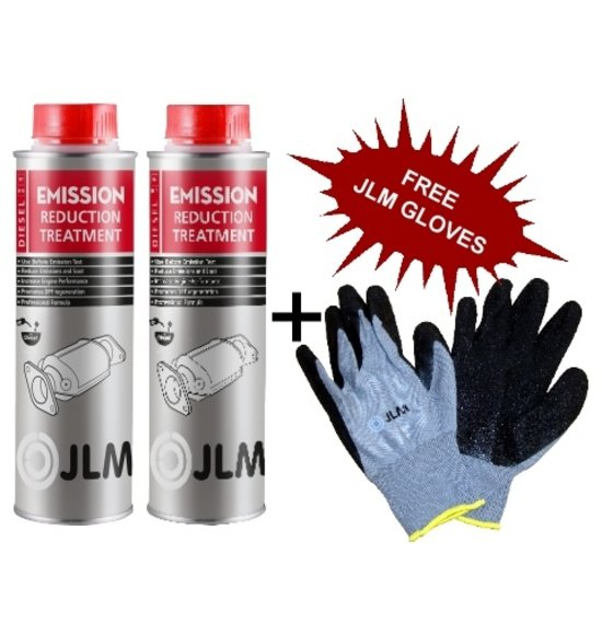 JLM Lubricants 2x Diesel Emission Reduction Treatment FREE Delivery + Gloves