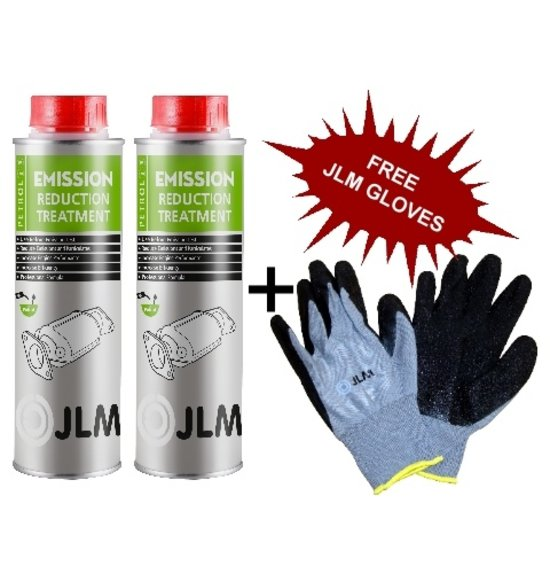 JLM Lubricants 2x Petrol Emission Reduction Treatment FREE DELIVERY + Gloves