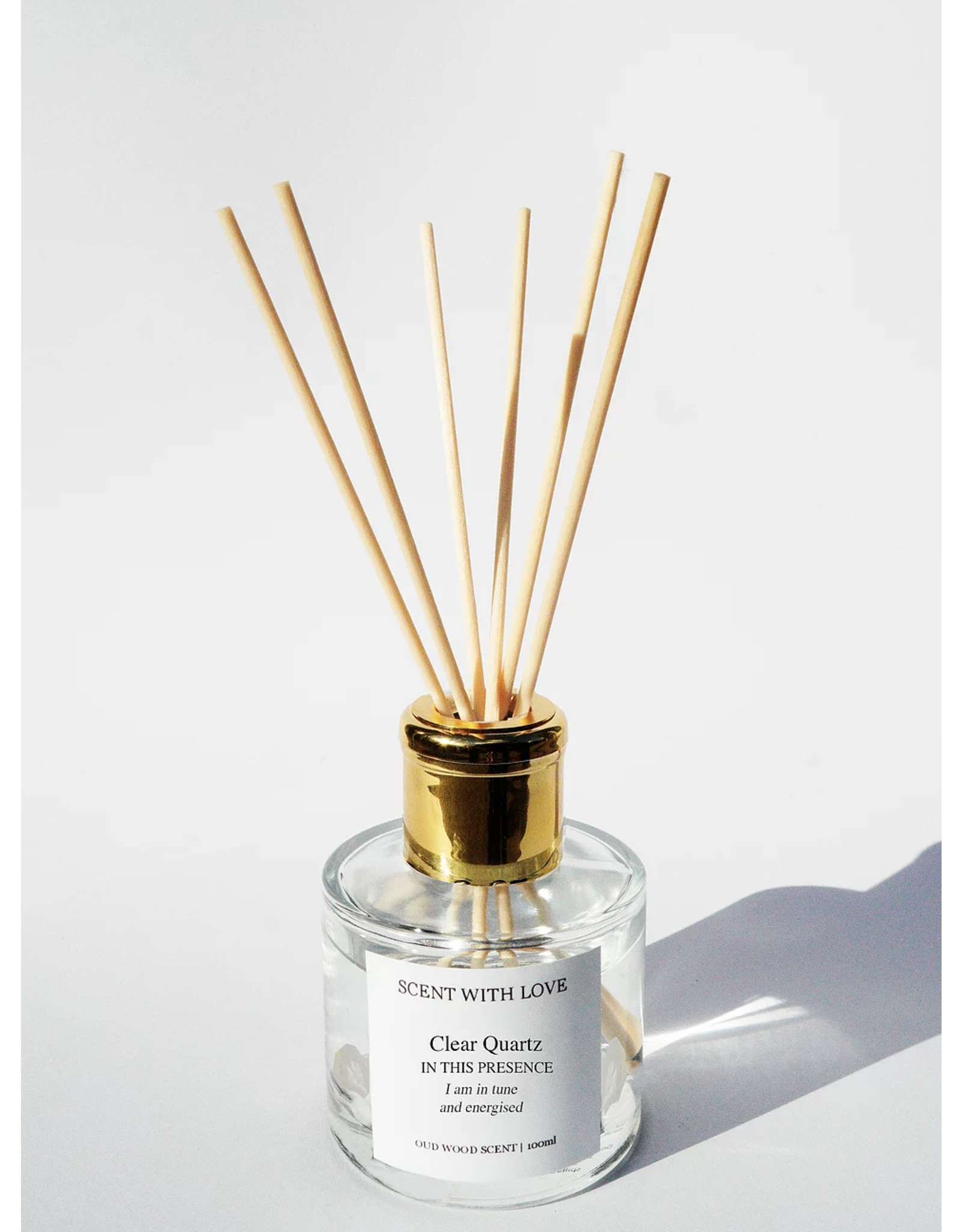SCENT WITH LOVE Diffuser Clear Quartz | In tune & Energised