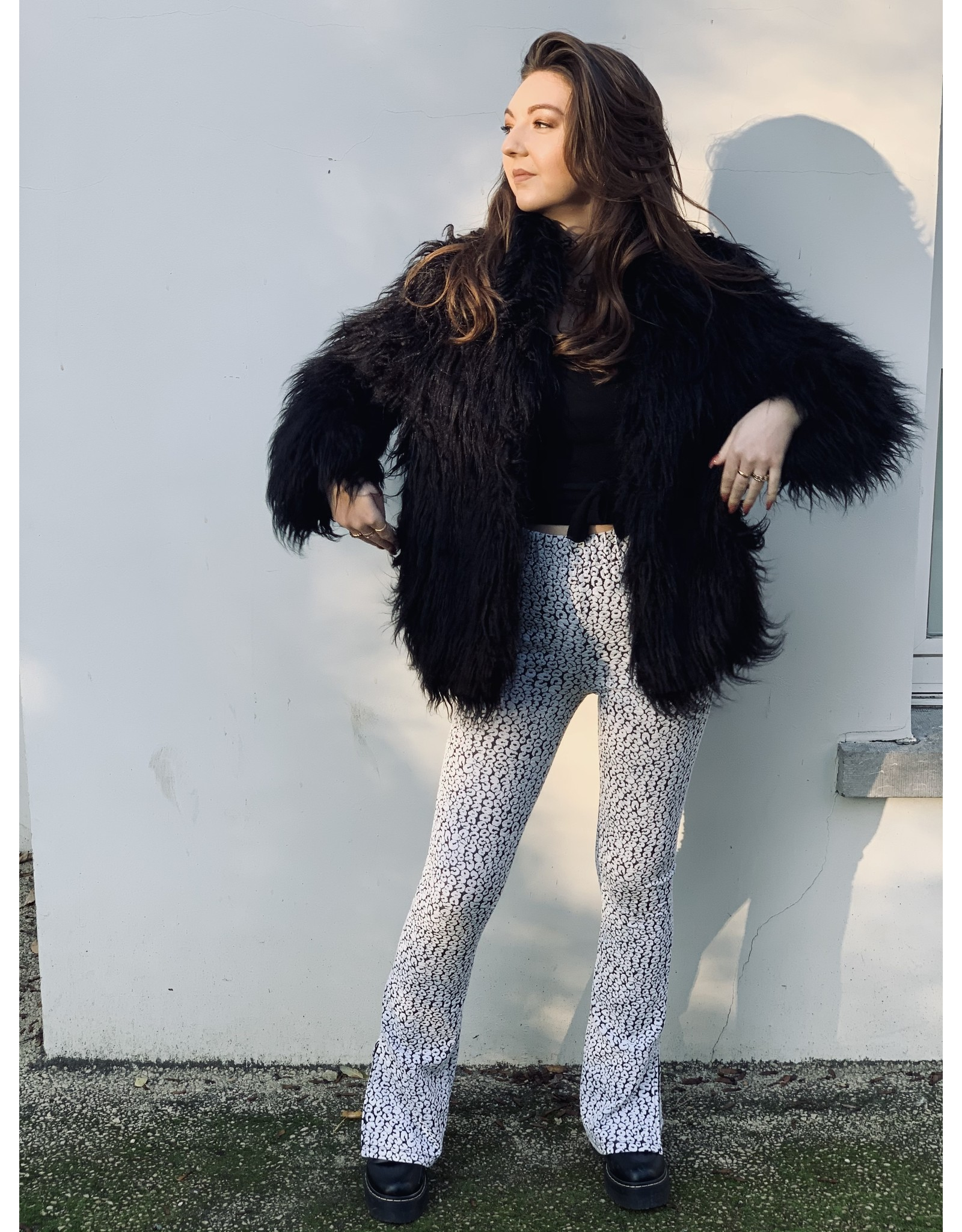 CR MEVY LEOPARD FLARE PANTS