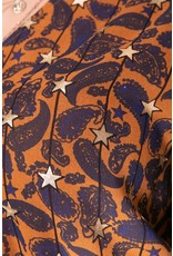 CR PRESLEY PAISLEY RUFFLE DRESS BROWN