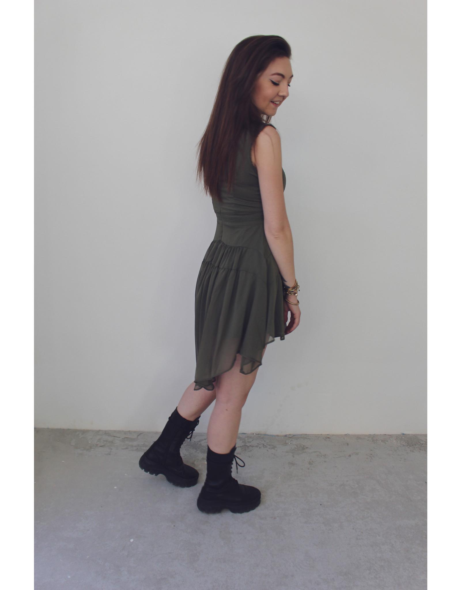 MW LAIA DRESS - SENSUAL GREEN