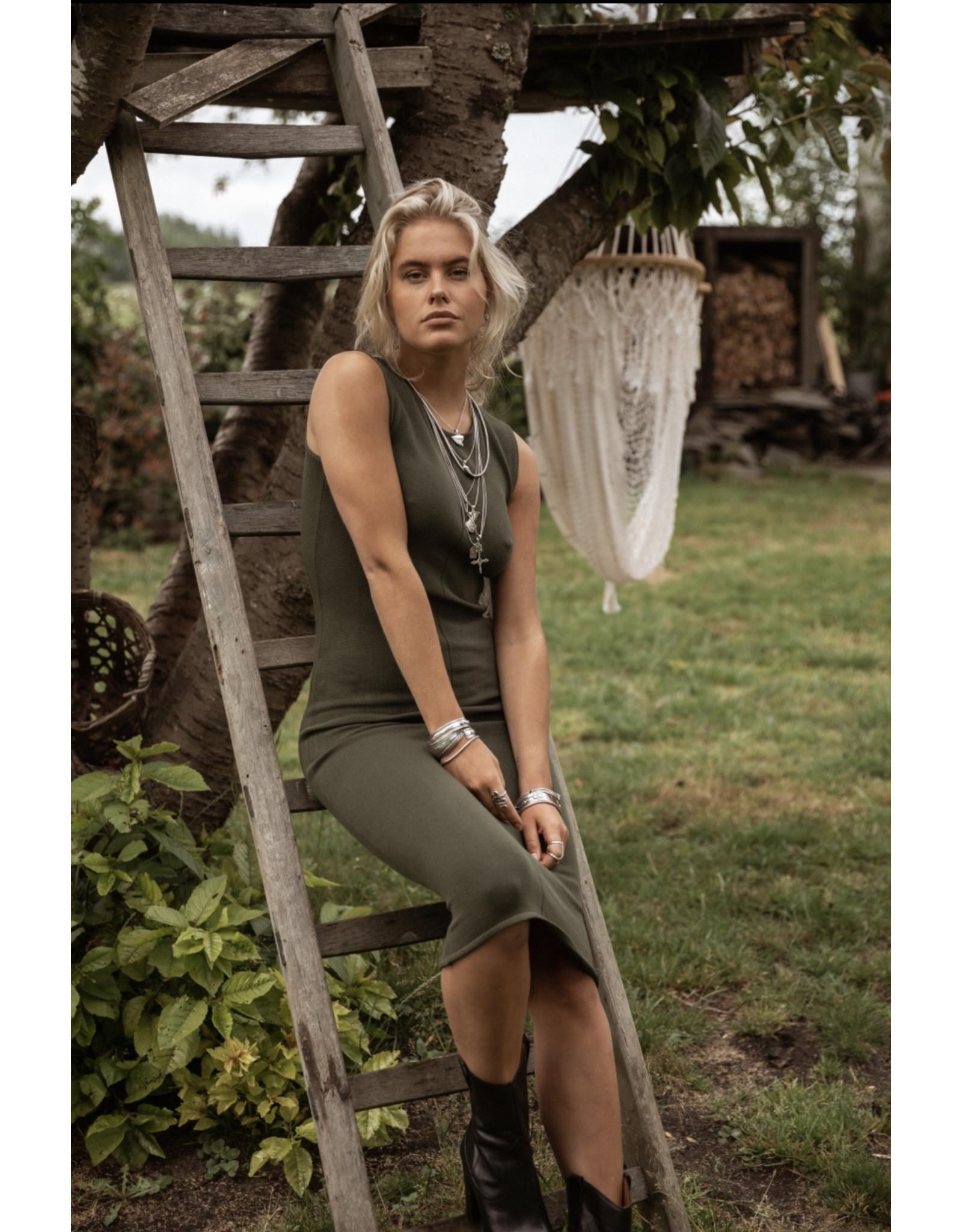 MW SELINA DRESS - SENSUAL GREEN