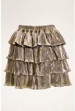 MJ Goudkleurige rok met laagjes