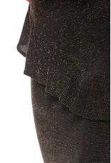 CR Macy Lurex Ruffle Mini Skirt Black