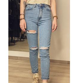 Jeans broek met scheuren