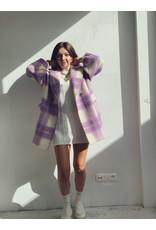 Color Coat Kort Lila White