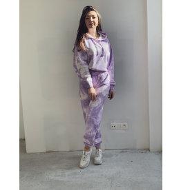 CR Tie Dye Sweat Joggings Pants Lilac