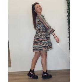 CR Indy Jacquard Boho Dress Multicolor