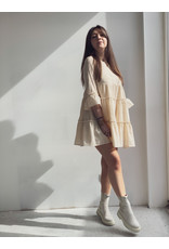 Indy Lurex Boho Dress Beige