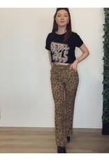 CR Diana Leopard Pants Brown