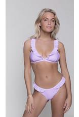 CR Nikkie Uni Ruffle Bikini Top Pastell Lilac