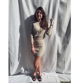 MW Moya Damaged Skirt Beige