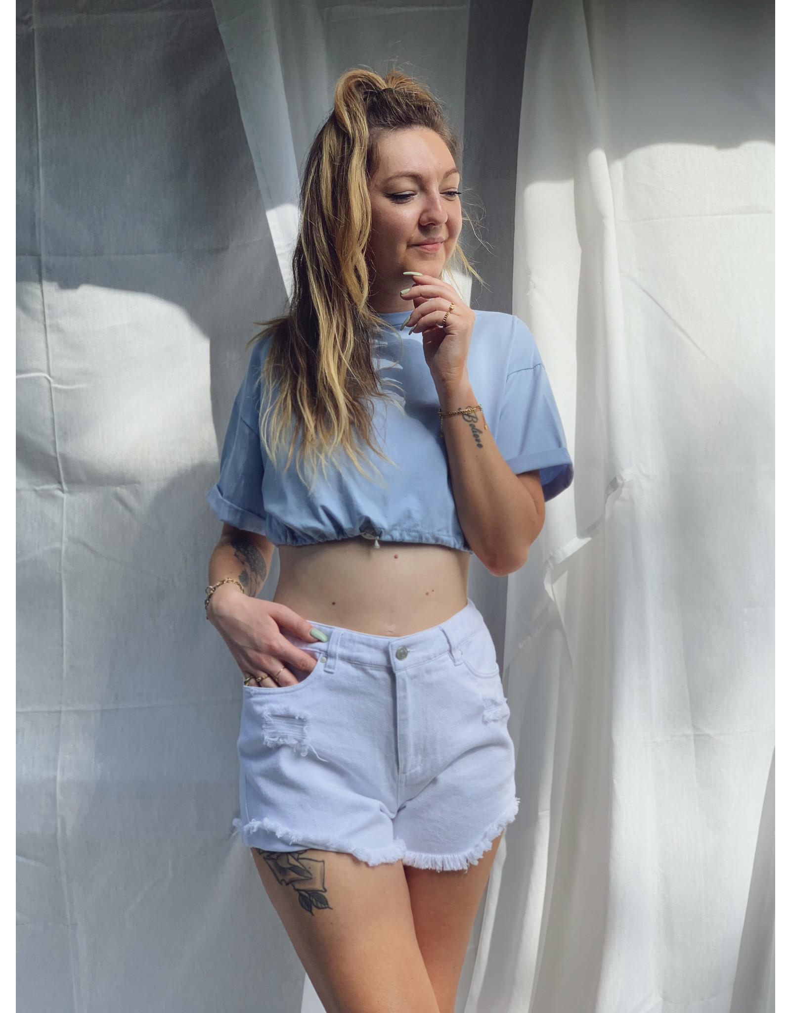 Lu Crop-Top Light Blue