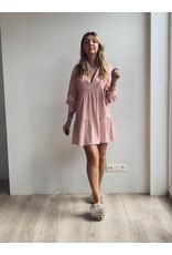 Petunia Mini Trapeze Dress Pink Linen